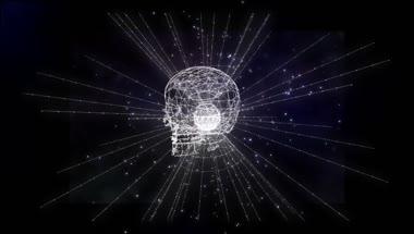 创意科技技术全息光效线条VJ效果粒子飘浮形状旋转动态视频素材