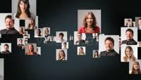 企业员工照片汇聚LOGO标志