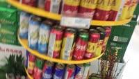 世界杯啤酒超市实拍视频