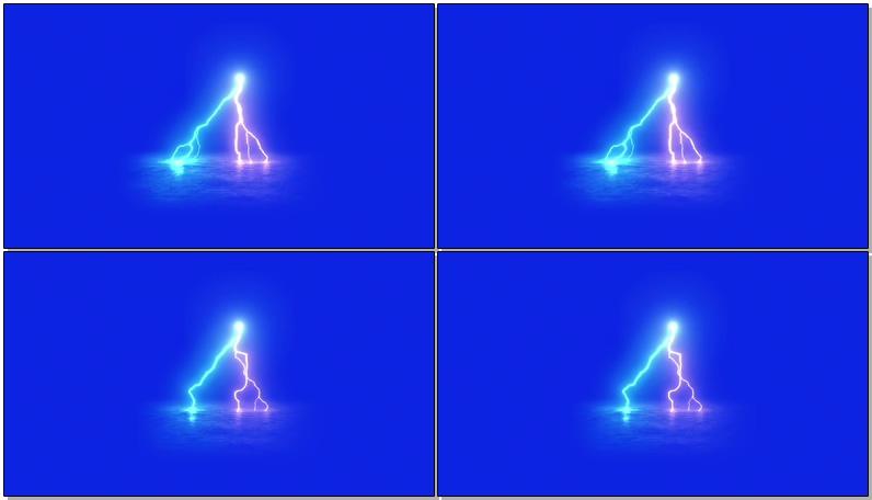 蓝屏抠像闪电球放电