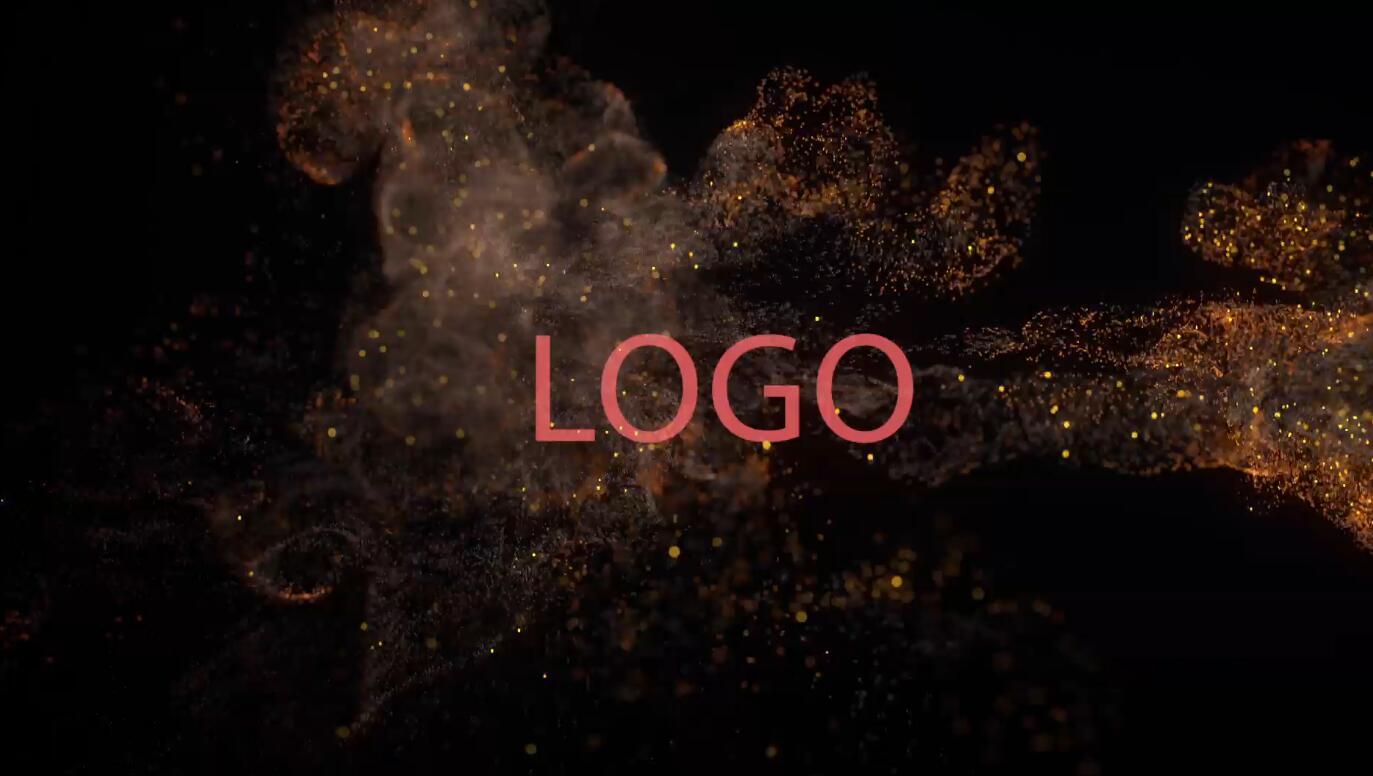 优雅大气火焰粒子Logo展示AE模板