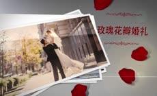 唯美浪漫玫瑰花瓣婚礼相册AE模板