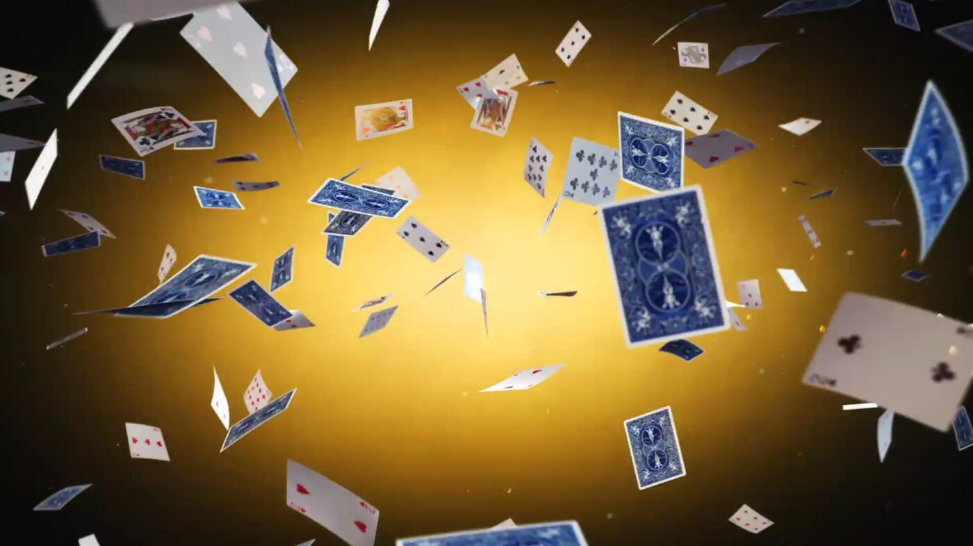 创意扑克牌LOGO宣传片AE模板