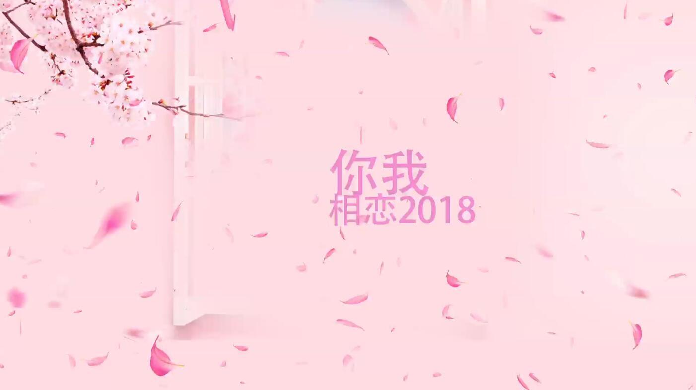情人节浪漫文字片头展示AE模板