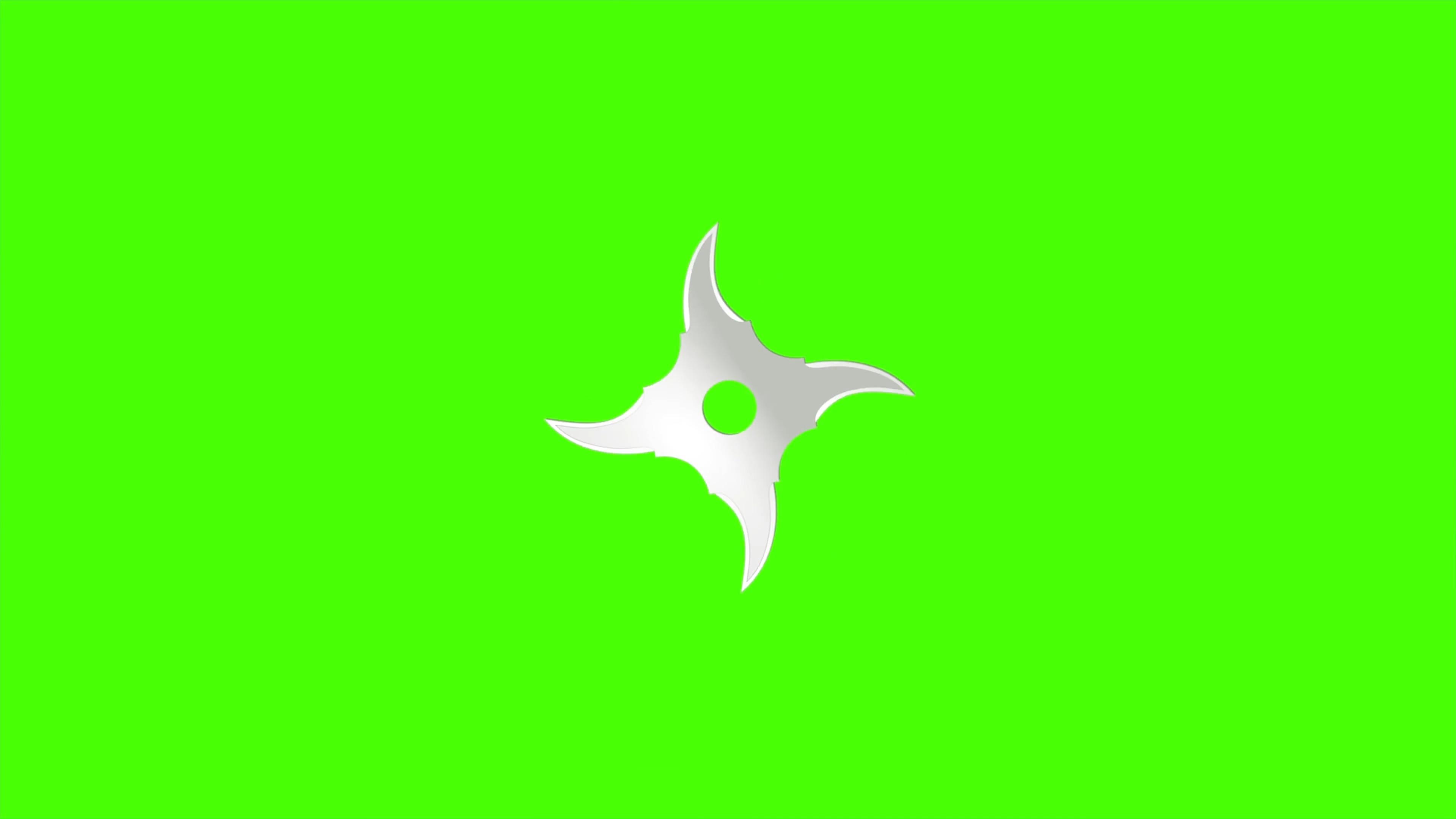 绿屏抠像旋转的忍者镖