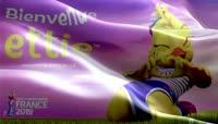 2019法国女足世界杯吉祥物旗帜动画