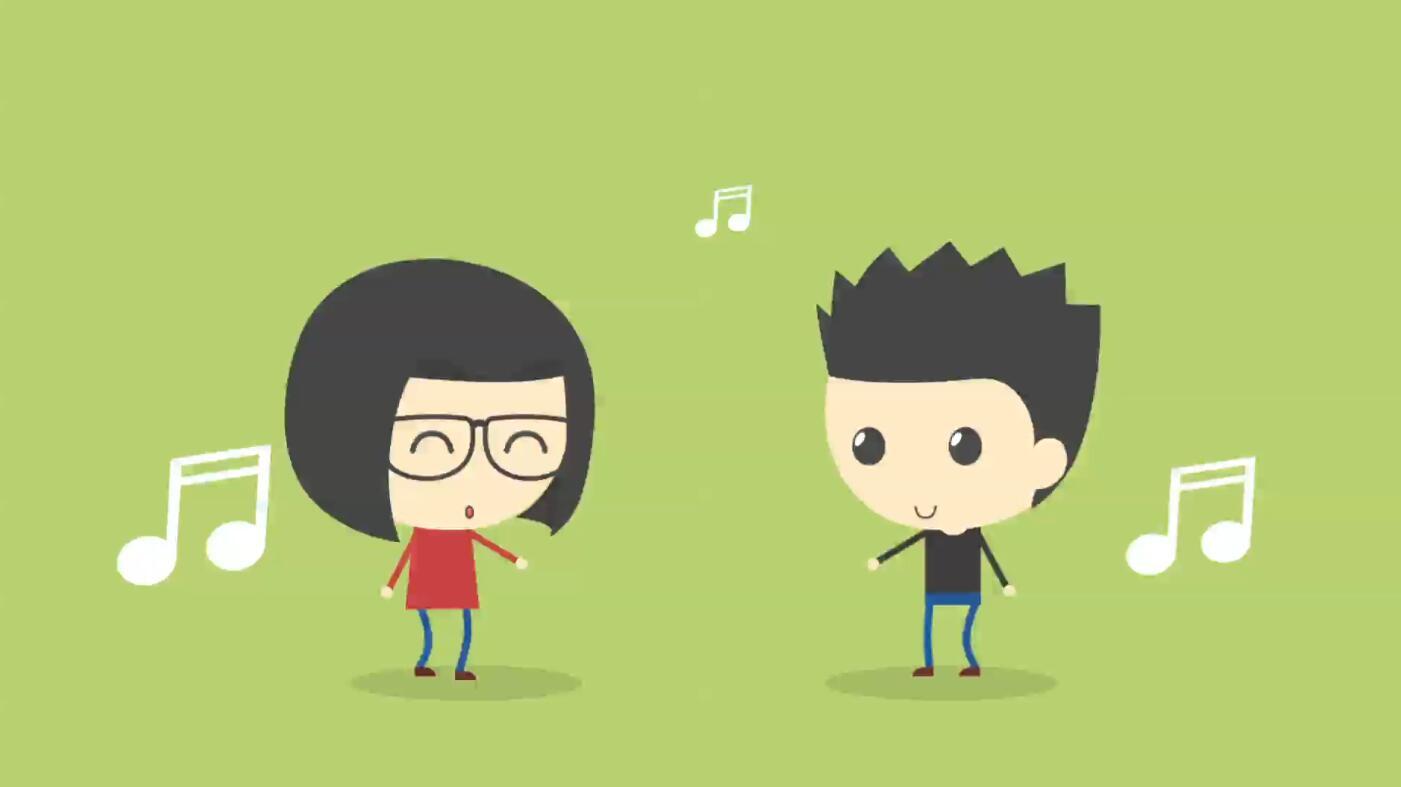 卡通人物角色演绎的爱情故事小动画AE模板