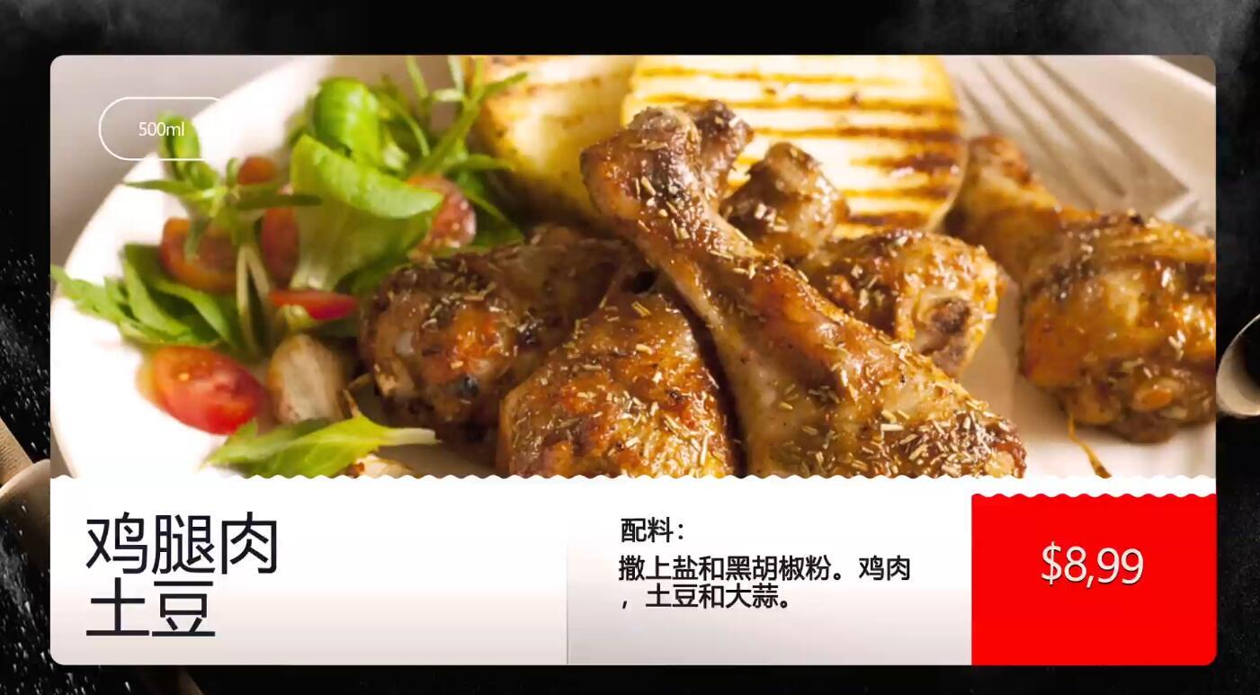 快餐店咖啡厅套餐新品促销宣传动画AE模板