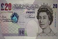 英镑 英国纸币 国外货币面额钞票