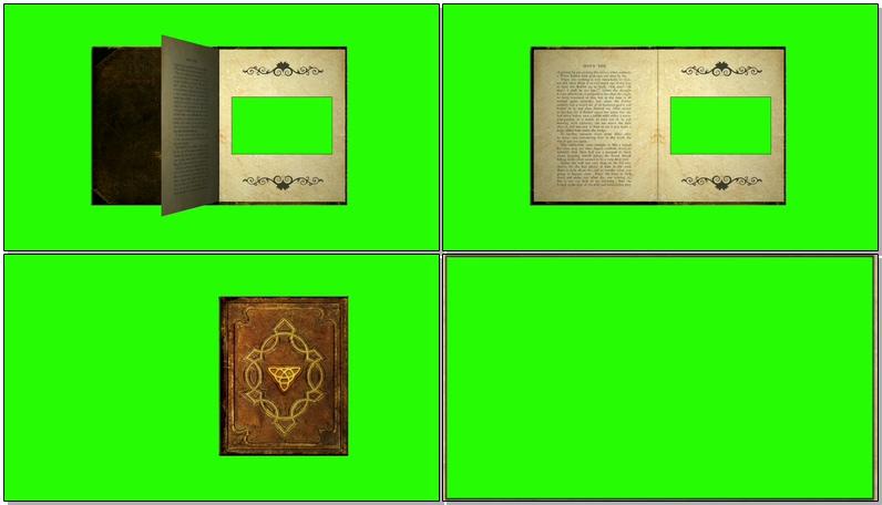 绿屏抠像翻页的魔法书