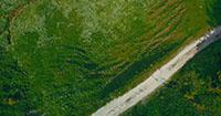 4k航拍丘陵地带风光草原草地