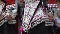 少数民族苗族银饰手工工匠制作银器装饰品