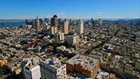 航拍美国加利福尼亚洛杉矶城市建筑物_高楼大厦街道车流