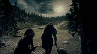 远古时期史前原始部落人类狩猎打猎投石2_牛群