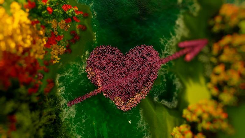 \[2K\]花朵组成的I Love You一箭穿心