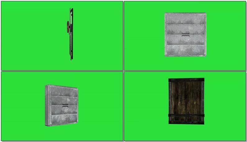 绿屏抠像各种被破坏的大门