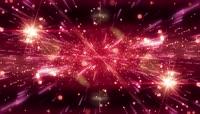 4K星光粒子空间穿梭动态背景VJ舞台背景