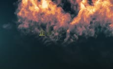 烟雾翅膀logo演绎片头AE模版