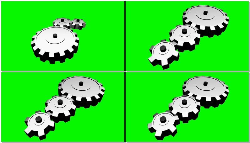 绿屏抠像旋转的齿轮