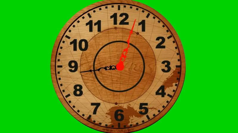 绿屏抠像木质钟表