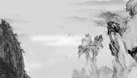中国传统文化孔子水墨中国风大屏幕背景视频