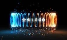 螺旋标志演绎特效logo片头AE模板