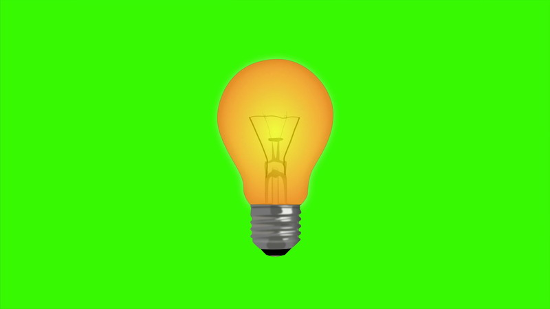 \[4K\]绿屏抠像闪烁的灯泡