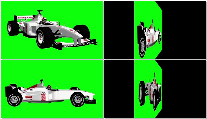 绿屏抠像F1赛车