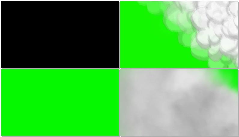 绿屏抠像卡通白色烟雾