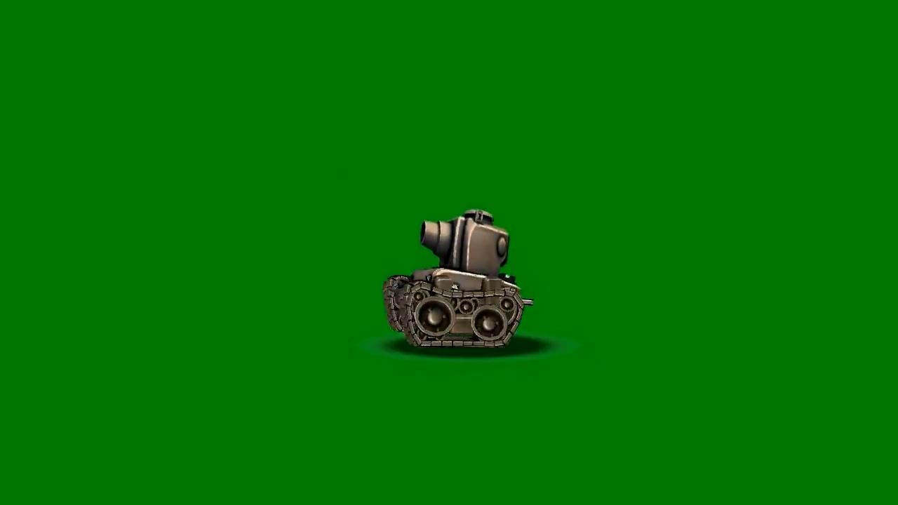 绿屏抠像卡通3D坦克1