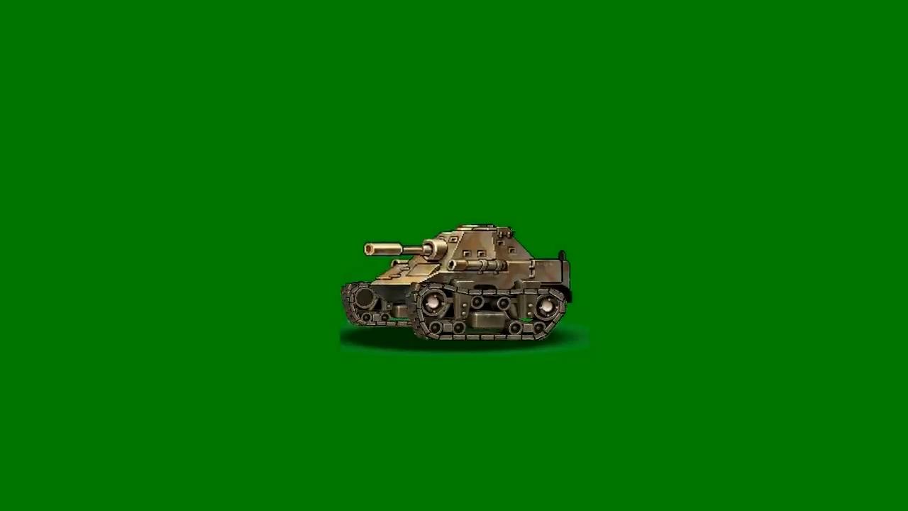 绿屏抠像卡通3D坦克2