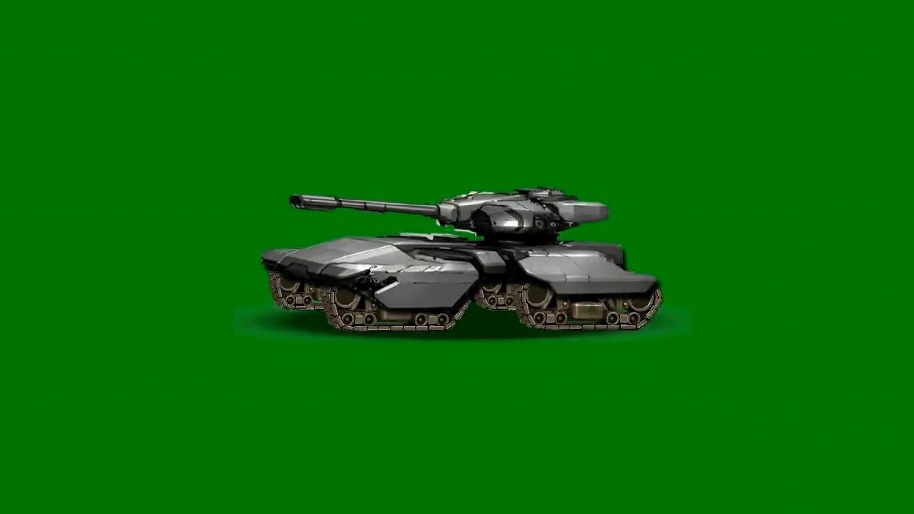 绿屏抠像卡通3D坦克5