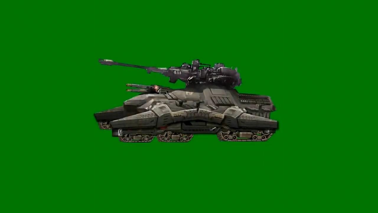 绿屏抠像卡通3D坦克6