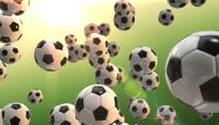 3D动画旋转的足球LED视频素材