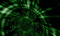 绿色时空隧道穿行LED视频素材