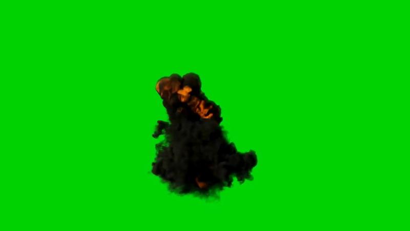 绿屏抠像爆炸的黑烟