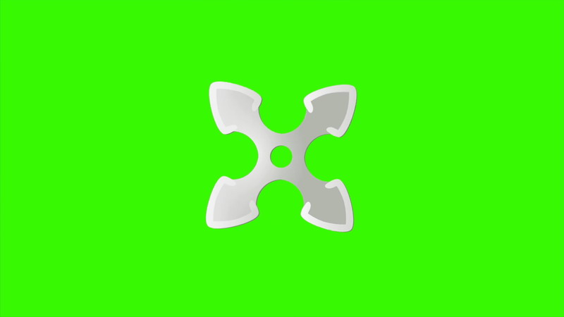 \[4K\]绿屏抠像旋转的忍者镖