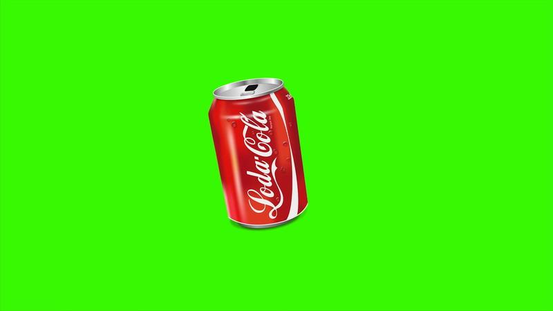 \[4K\]绿屏抠像可口可乐易拉罐