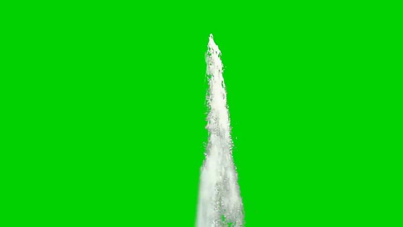 绿屏抠像喷泉