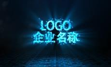 蓝色光线扫描科技感logo演绎AE模板\(CC2017\)