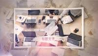 时尚小清新怀旧折纸笔刷电子相册AE模板\(CC2017\)