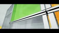 玻璃立方体标志展示