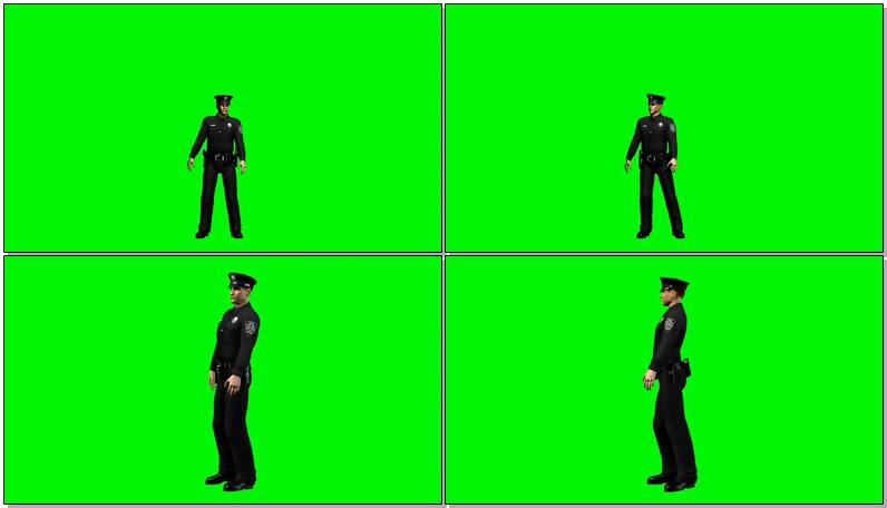 绿屏抠像交通警察