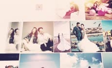 照片组合展示婚礼相册AE模板