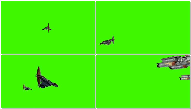 绿屏抠像外星飞船战舰