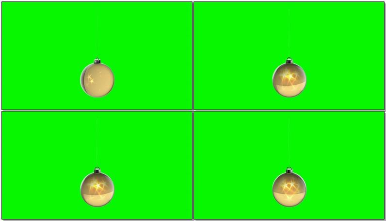 \[4K\]绿屏抠像金色圣诞挂饰