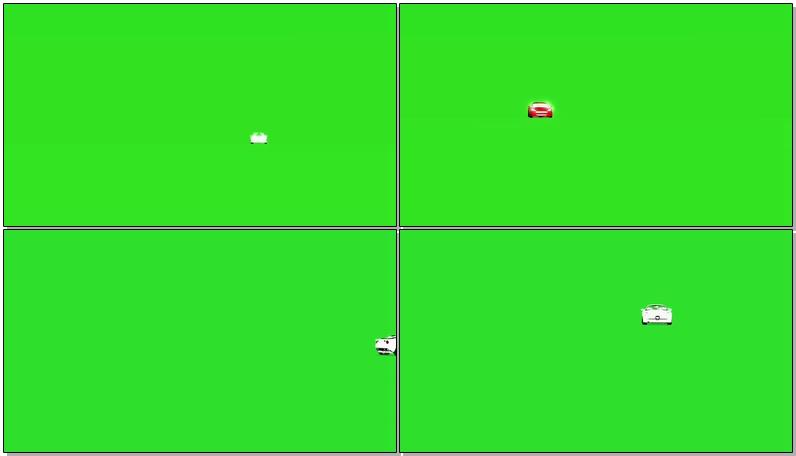 绿屏抠像开动的汽车