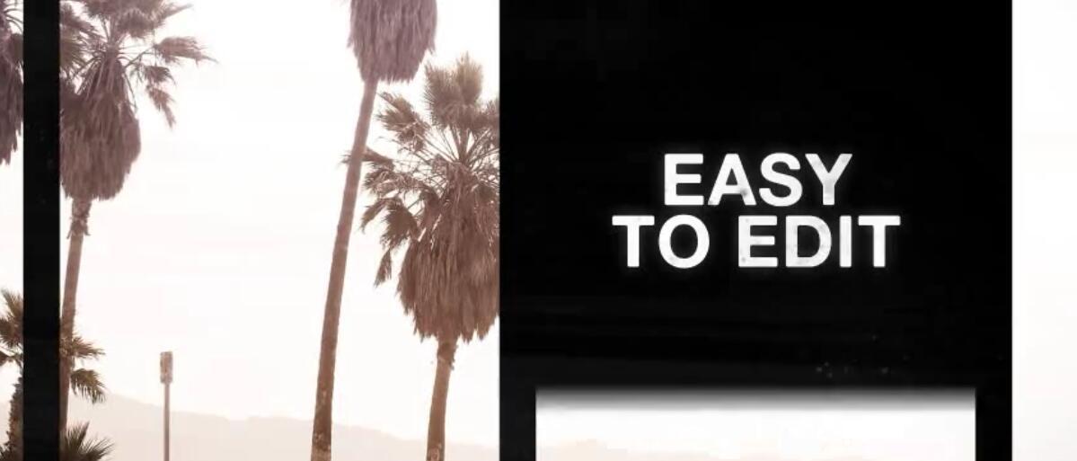 AE模板 复古幻灯片切割展示 Retro Split Frames Slideshow
