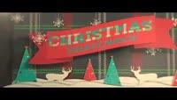 剪纸装饰风格的圣诞相册