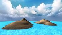 海岛 海洋 沙滩 海水 大海 风景 日出日落 3d